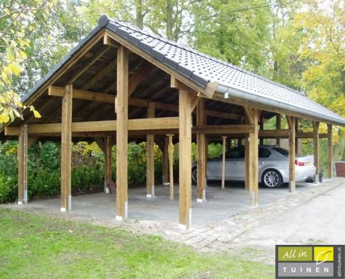 luxe houten carport kraggenburg