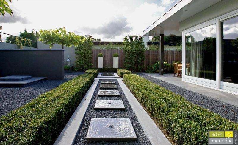 Doordacht tuinontwerp moderne kleine tuin water in tuin nieuwe