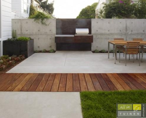 Moderne materialen, hout beton en staal
