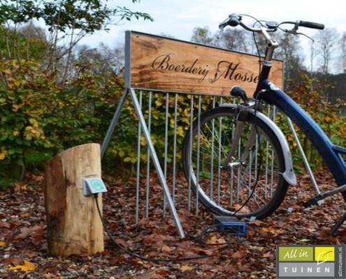fietsoplaag paal veluwe