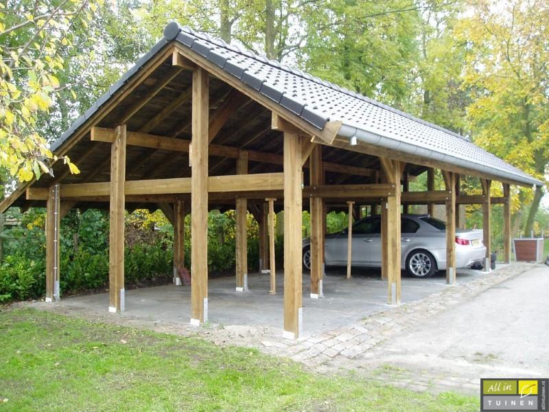 luxe houten carport